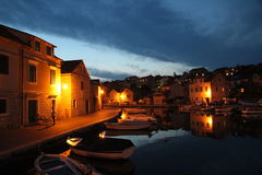 Night in Vrboska Royalty Free Stock Images