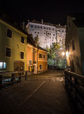 Night walk in Cesky Krumlov Royalty Free Stock Image