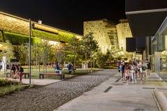 Night walk near Israel Pavillon , EXPO 2015 Milan Royalty Free Stock Photography