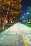 night walkway στοκ φωτογραφία