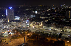 Night in Warsaw Royalty Free Stock Photography