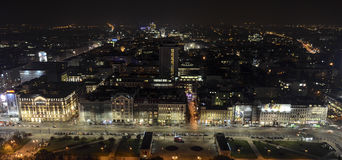 Night in Warsaw Royalty Free Stock Images