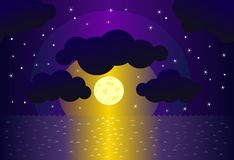 Night and water background Royalty Free Stock Photo