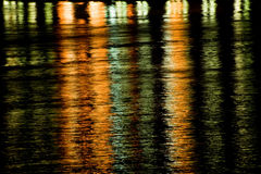 Night Water Reflection Royalty Free Stock Image