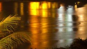Night water sunset timelapse stock footage