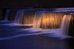Night waterfall Royalty Free Stock Photos