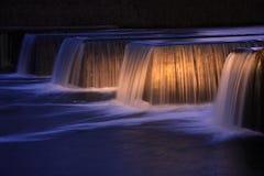 Night waterfall royalty free stock photos