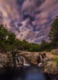 Night waterfall stock photography