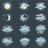 Night weather icon Stock Images