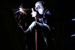 Night welding Royalty Free Stock Image
