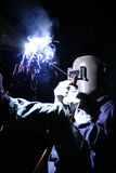 Night welding Stock Images