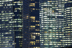 Night windows stock photography