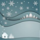 Night winter background Stock Images
