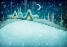 Night winter background Stock Photography