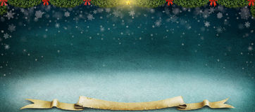 Night winter background. Royalty Free Stock Photography