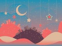 Night Winter City Royalty Free Stock Image
