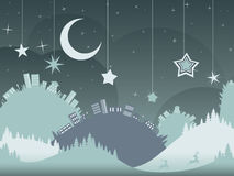 Night Winter City Royalty Free Stock Images