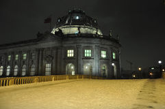 Night winter scene in Berlin, Germany. Bode Museum Stock Images
