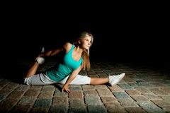 Night workout Stock Photography