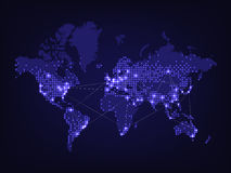 Night world map Stock Photos