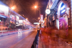 Night Wuhan shopping street Royalty Free Stock Photo