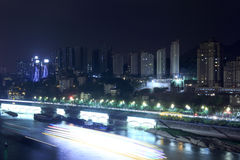 Night of the yangtze river Royalty Free Stock Image