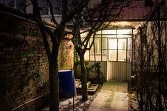 Night Yard Stock Images