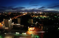 Night in Yekaterinburg Royalty Free Stock Images
