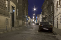 Night Zagreb street Stock Photography