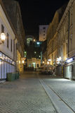 Night Zagreb street stock image