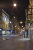 Night Zagreb street Stock Photos