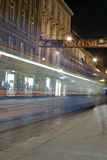 Night Zagreb street Royalty Free Stock Photo