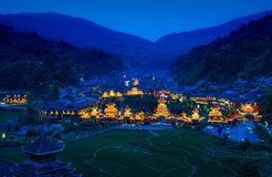 The night of zhaoxing Royalty Free Stock Photography