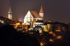 Night  Znojmo town, Czech Republic Stock Photo