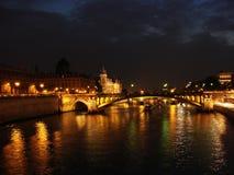 night2 paris Стоковая Фотография RF