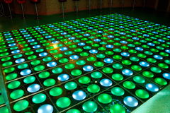 Nightclub. A light-emitting-diode floor is in a night-club Stock Image