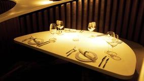 Nightclub. Table set of a modern luxurious nightclub Stock Image