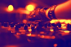 Nightclub. Parties. sound and light DJ Stock Photography