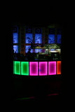 Nightclub. Partbar in nightclub with color lights Royalty Free Stock Images