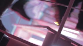 Nightclub background, people walking up and down the stairs. Stock footage stock footage