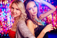 Nightclub beauties Stock Image