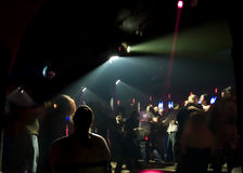 Nightclub Dance Crowd. In motion Stock Photos
