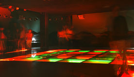 Nightclub dance crowd in motion.  Stock Photography