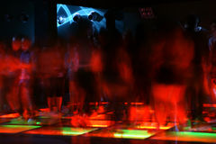 Nightclub dance crowd in motion.  Stock Images