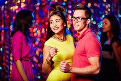 Nightclub dancing royalty free stock image