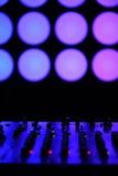 Nightclub DJ. sound equipment. Nightclub parties DJ. sound equipment Royalty Free Stock Photography