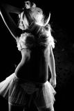 Nightclub go-go style dancer is posing Royalty Free Stock Photos
