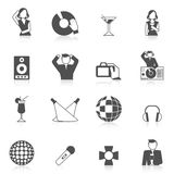 Nightclub Icon Set Stock Photography