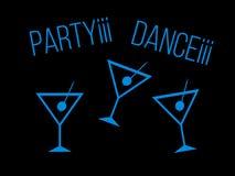 Nightclub icons Royalty Free Stock Photos
