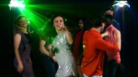 Nightclub: large dance companies. In the stock video